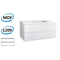 1200x460x550mm Wall Hung Bathroom Floating Vanity GLOSSY White Double Drawers Cabinet ONLY&Ceramic/Poly Top Available