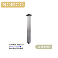 Norico Esperia 400mm Square Brushed Nickel Ceiling Shower Arm Solid Brass