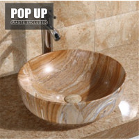 420x420x140mm Bathroom Marbleize Pattern Ceramic Above Counter Basin Round Wash Basin Totti-Y
