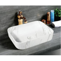 515x400x135mm Rtini Gray Marbleize Ceramic Above Counter Basin Bathroom Rectangle Wash Basin