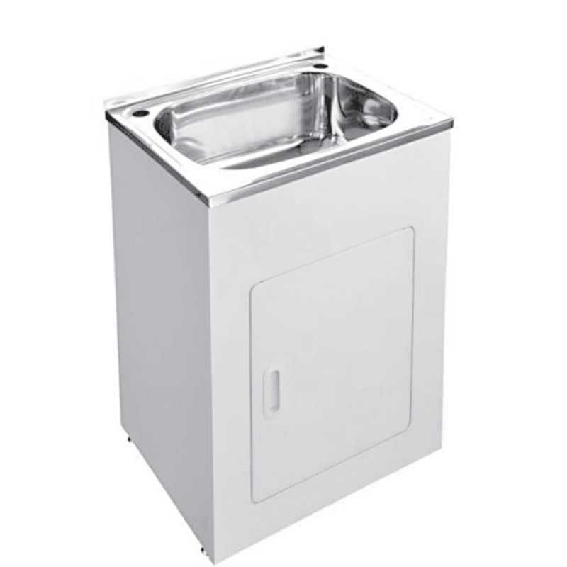 45L Stainless Steel Laundry Tub Cabinet Freestanding
