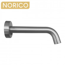 Norico Round Brushed Nickel Bathtub Basin Spout Wall Spout Water Spout