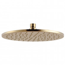 Norico 250mm 10 inch Solid Brass Brushed Yellow Gold Rainfall Shower Head