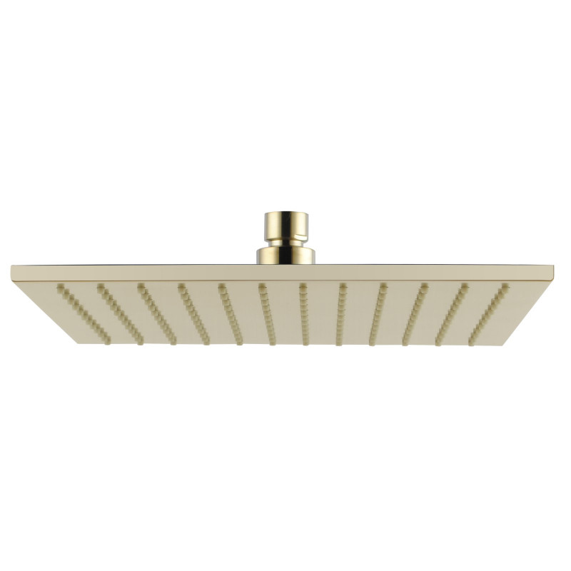 Esperia 10 inch 250mm Square Solid Brass Brushed Yellow Gold Rainfall Shower Head SR135.04