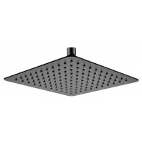 "250mm 10"" Stainless Steel 304 Black Super-slim Square Rainfall Shower Head"
