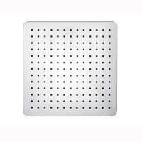 "300mm 12"" Stainless Steel 304 Chrome Surface Super-slim Square Rainfall Shower Head"