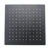 "200mm 8"" Solid Brass Black Nero Rainfall Brass Shower Head WELS WATERMARK"