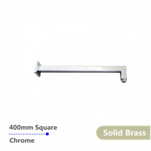400mm Square Chrome Brass Wall Mounted Shower Arm Solid Brass