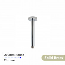200mm Round Chrome Ceiling Shower Arm Solid Brass