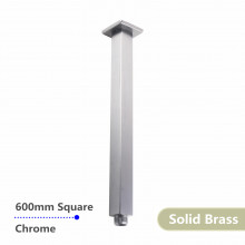 600mm Square Chrome Ceiling Shower Arm Solid Brass