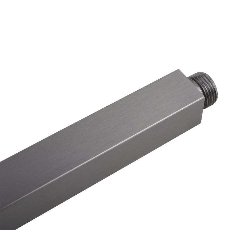 Square Gunmetal Grey Ceiling Shower Arm 600mm Stainless Steel SS0106GMG