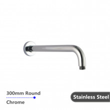 300mm Round Chrome Stainless Steel 304 Shower Arm Wall Mounted