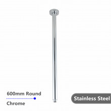 600mm Ceiling Shower Arm Stainless Steel 304 Round Chrome