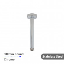 300mm Ceiling Shower Arm Round Chrome Stainless Steel 304