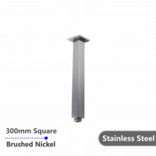 300mm Square Ceiling Shower Arm Brushed Nickel Stainless Steel 304