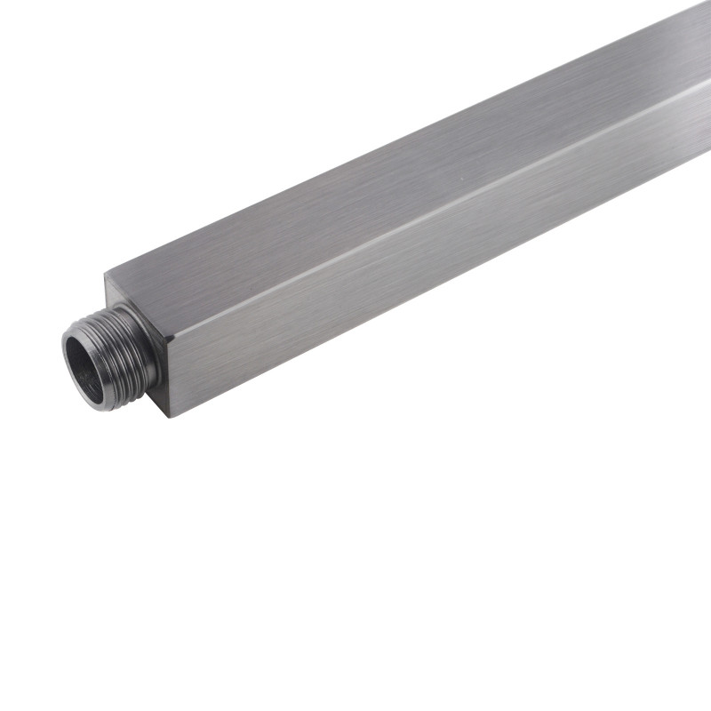 Square Brushed Nickel Ceiling Shower Arm 300mm Stainless Steel SS0126BU