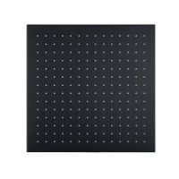 "300mm 12"" Solid Brass Matt Black Square Nero Rainfall Shower Head WELS WATERMARK"