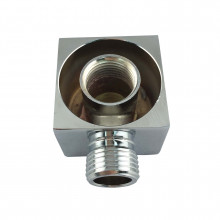 Shower Head Wall Elbow Square Brass Chrome Water Inlet Connector