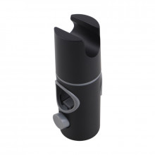 Round Black Top Water Inlet Twin Shower Rail With Diverter