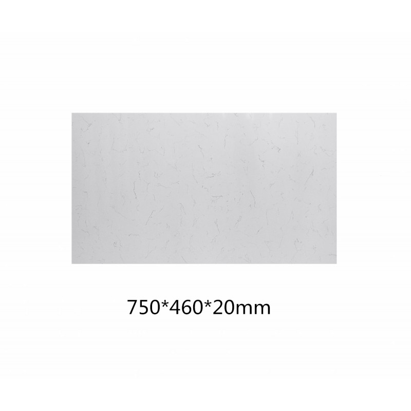 Stone top for above counter ceramic basins 600 750 900 1200 1500mm x 460x20mm Bianco Twirl