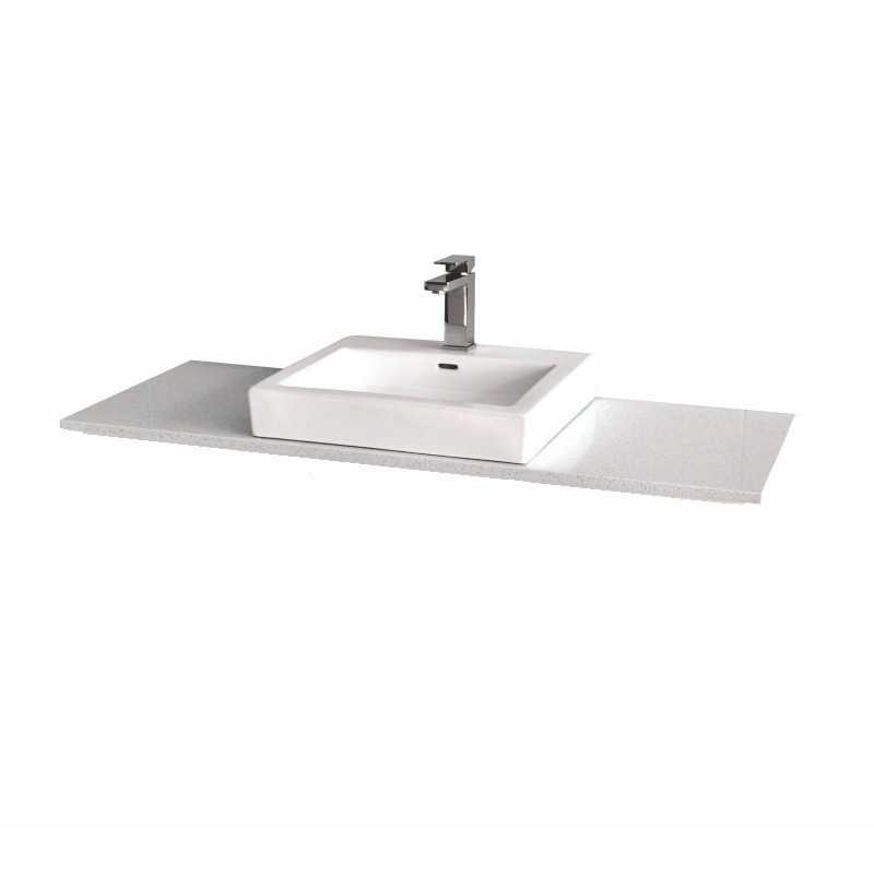 Stone top for above counter ceramic basins Snow White