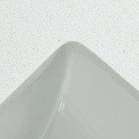 20mm Thick Snow White Stone Top with Single/Dou..