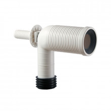 Toilet Suite S Trap Universal Extended Pan Connector 195mm Cut Lines