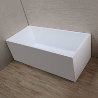 1500x700x580mm Theo Bathtub Multi fit Corner Back to Wall Freestanding Acrylic Gloss White Bath tub NO Overflow
