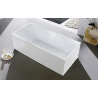 1400x730x580mm Theo Bathtub Multi fit Corner Back to Wall Freestanding Acrylic Gloss White Bath tub NO Overflow
