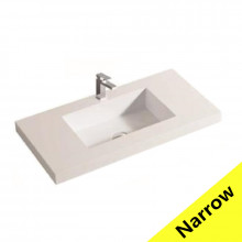 750x370x140mm Narrow Poly Top for Bathroom Vanity Single Bowl 1 Tap hole