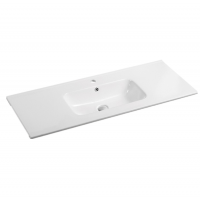1210x465x175mm Ceramic Top for Bathroom Vanity Sleek High Gloss Square Single Bowl 1 Tap hole 1 Overflow Hole