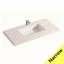 900x370x140mm Narrow Poly Top for Bathroom Vanity Single Bowl 1 Tap hole