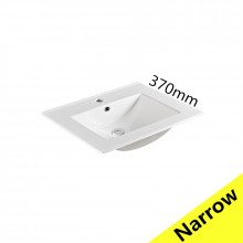 610x370x170mm Ceramic Top for Bathroom Vanity Single Bowl 1 Tap hole 1 Overflow Hole Narrow