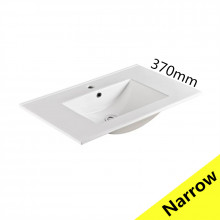 760x370x170mm Ceramic Top for Bathroom Vanity Single Bowl 1 Tap hole 1 Overflow Hole Narrow