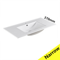 910x370x170mm Ceramic Top for Bathroom Vanity Single Bowl 1 Tap hole 1 Overflow Hole Narrow