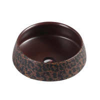 410x410x140mm Round Art Bronze Above Counter Basin Counter Top