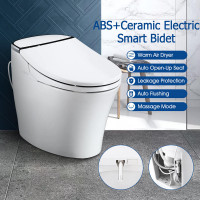 660x405x535mm Ceramic Intelligent Electric Smart Toilet Automatic Tank Less Instant Heating