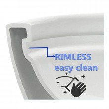 MACHO 650x380x840mm Rimless Flushing Ceramic White Wall Faced Toilet Suite Soft Seat WELS WATERMARK