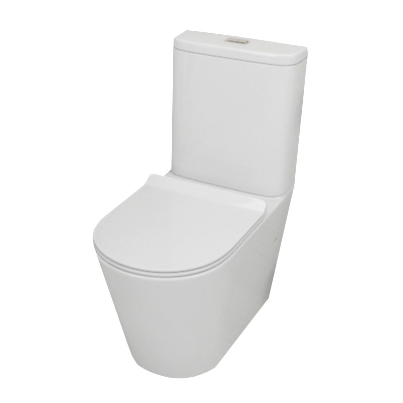 MACHO Bathroom Rimless Back To Wall Toilet Suite 642mm