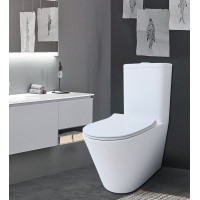 MACHO 665x360x845mm Boxed Rim High End Back To Wall Ceramic Toilet Suite