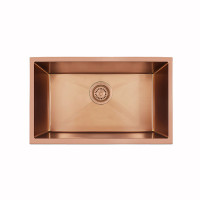 600x450x230mm Rose Gold PVD 1.2mm Handmade Top/Undermount Single Bowl Kitchen Sink Stainless Steel 304