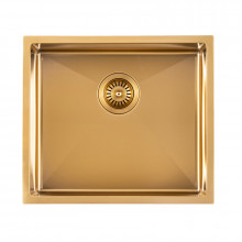 510x450x230mm Brushed Gold PVD Kitchen Sink Single Bowl Top/Undermount