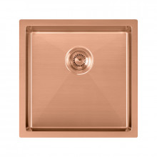 440x440x205mm Rose Gold PVD Stainless Steel Handmade Single Bowl Kitchen Sink Top/Undermount