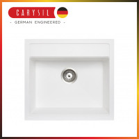 560x510x200mm Carysil White Single Bowl Granite Top/Flush/Under Mount Kitchen/Laundry Sink