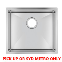 490x440x230mm 1.2mm Handmade Stainless Steel Top/Undermount Single Bowl Kitchen/Laundry Sink