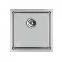 MACHO 440x440x205mm Stainless Steel Handmade Single Bowl Sink for Flush Mount and Undermount in kitchen and laundry