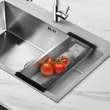 450mm Square Stainless Steel 304 Colander for Kitchen Sinks