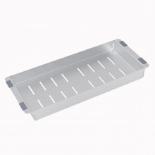 Square stainless steel colander for kitchen sink 443*183*40mm