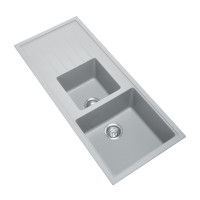 1160x500x205mm Carysil Concrete Grey 1 and A Half  Bowl With Drainer Board Granite Kitchen Sink Top/Flush/Under Mount