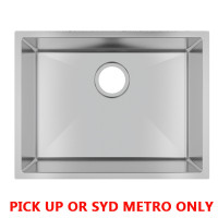 586x450x230mm 1.2mm Handmade Top/Undermount Single Bowl Kitchen Sink Stainless Steel
